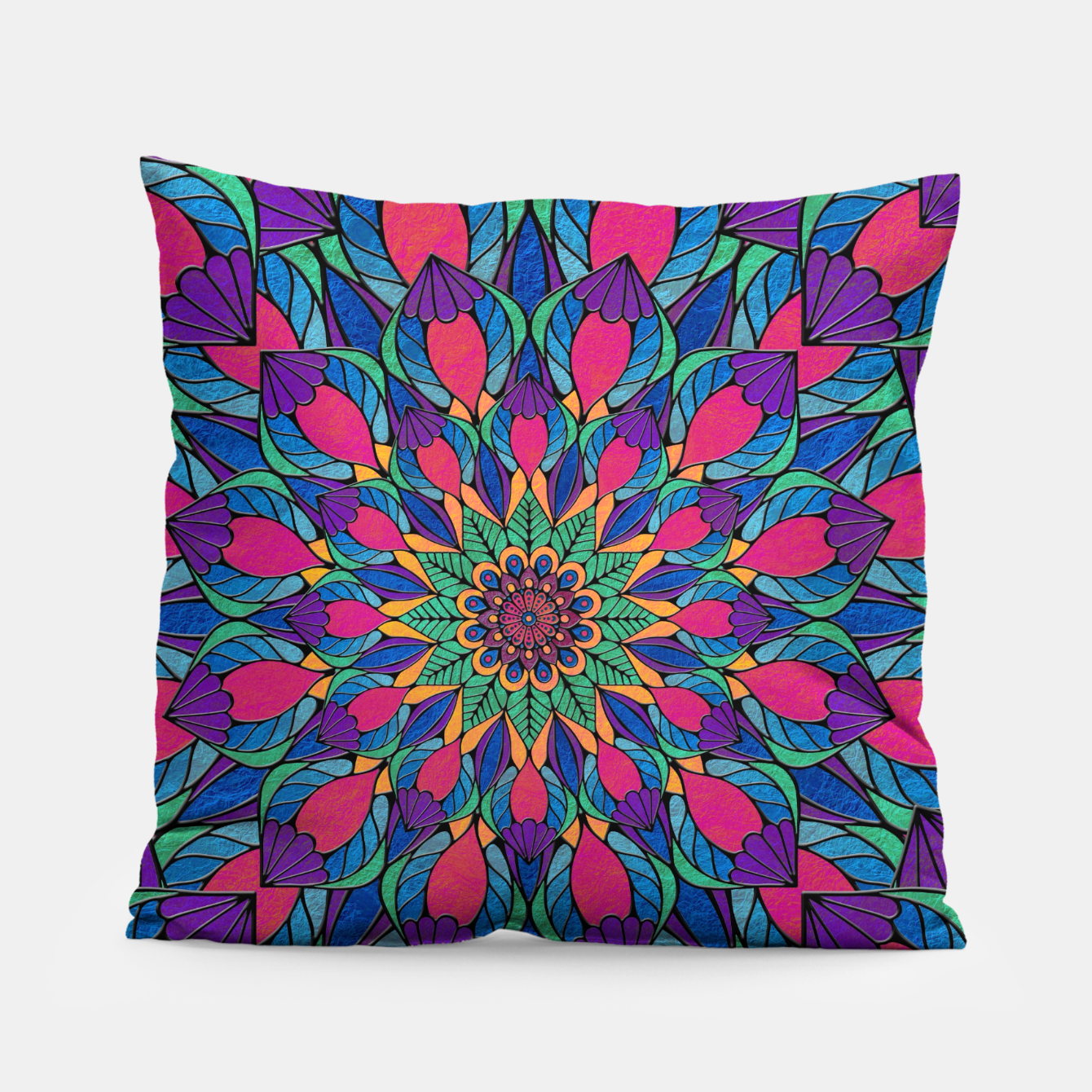 Imagen de Peacock Feather Mandala Pillow - Live Heroes