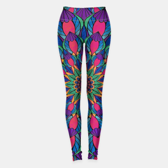 Peacock Feather Mandala Leggings imagen en miniatura