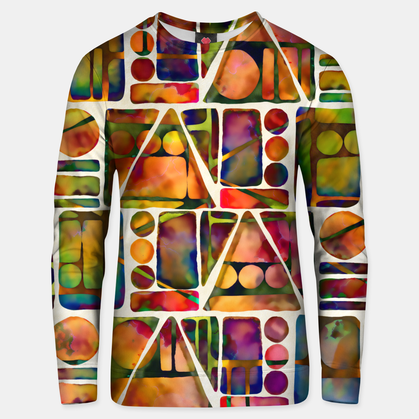 Imagen de Painted Geometric Pattern Cotton sweater - Live Heroes