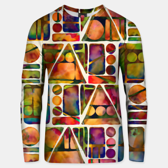 Painted Geometric Pattern Cotton sweater imagen en miniatura