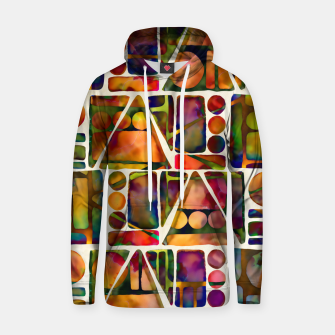 Painted Geometric Pattern Cotton hoodie imagen en miniatura