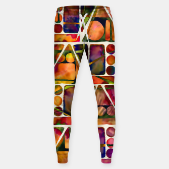 Painted Geometric Pattern Cotton sweatpants imagen en miniatura