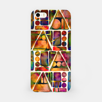 Painted Geometric Pattern iPhone Case imagen en miniatura