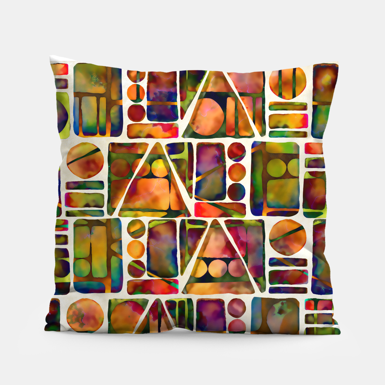 Imagen de Painted Geometric Pattern Pillow - Live Heroes