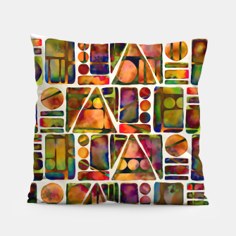 Painted Geometric Pattern Pillow imagen en miniatura