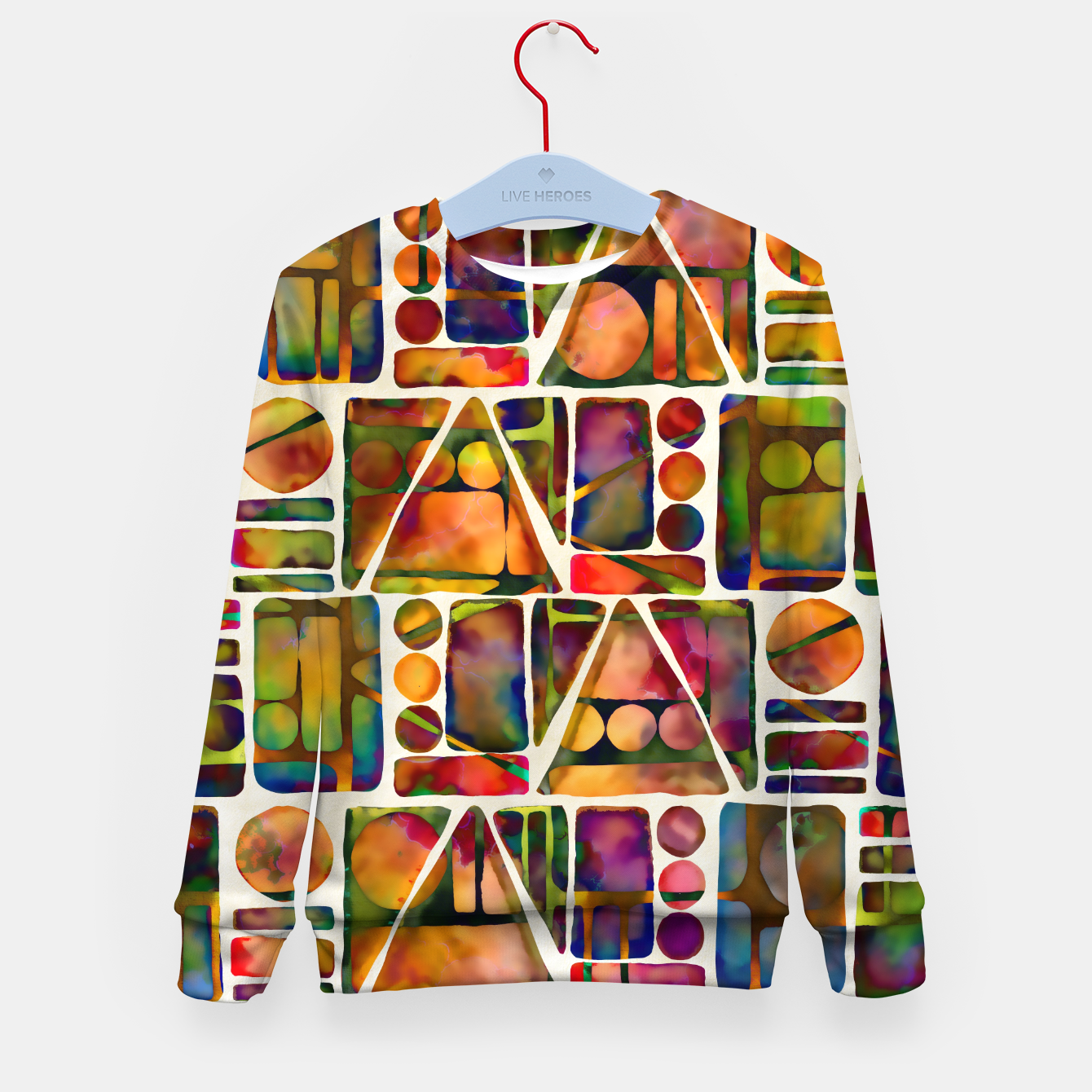 Imagen de Painted Geometric Pattern Kid's sweater - Live Heroes