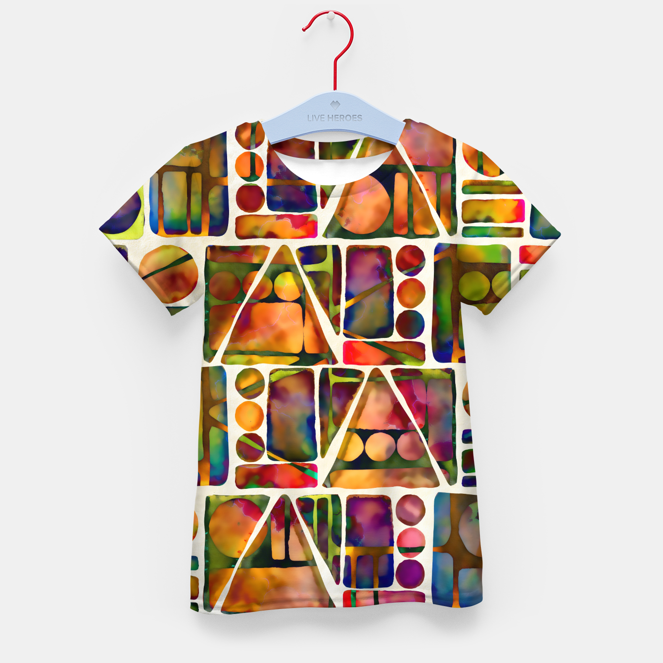 Imagen de Painted Geometric Pattern Kid's t-shirt - Live Heroes
