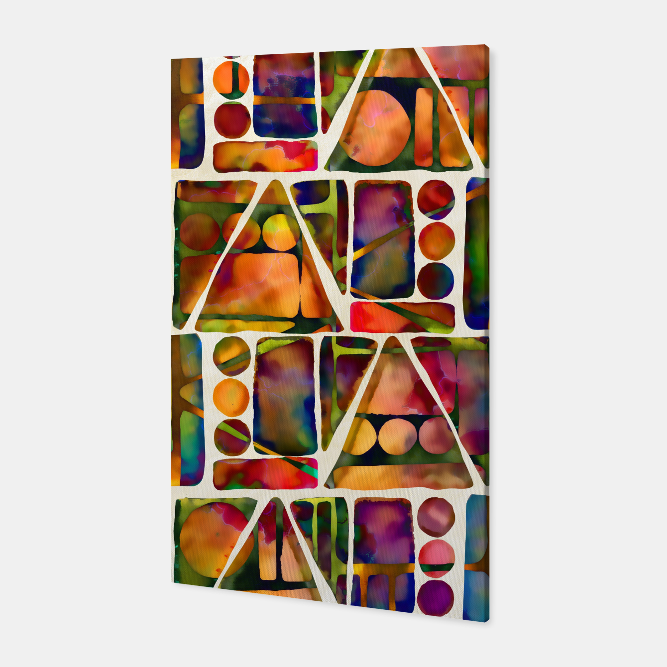 Imagen de Painted Geometric Pattern Canvas - Live Heroes