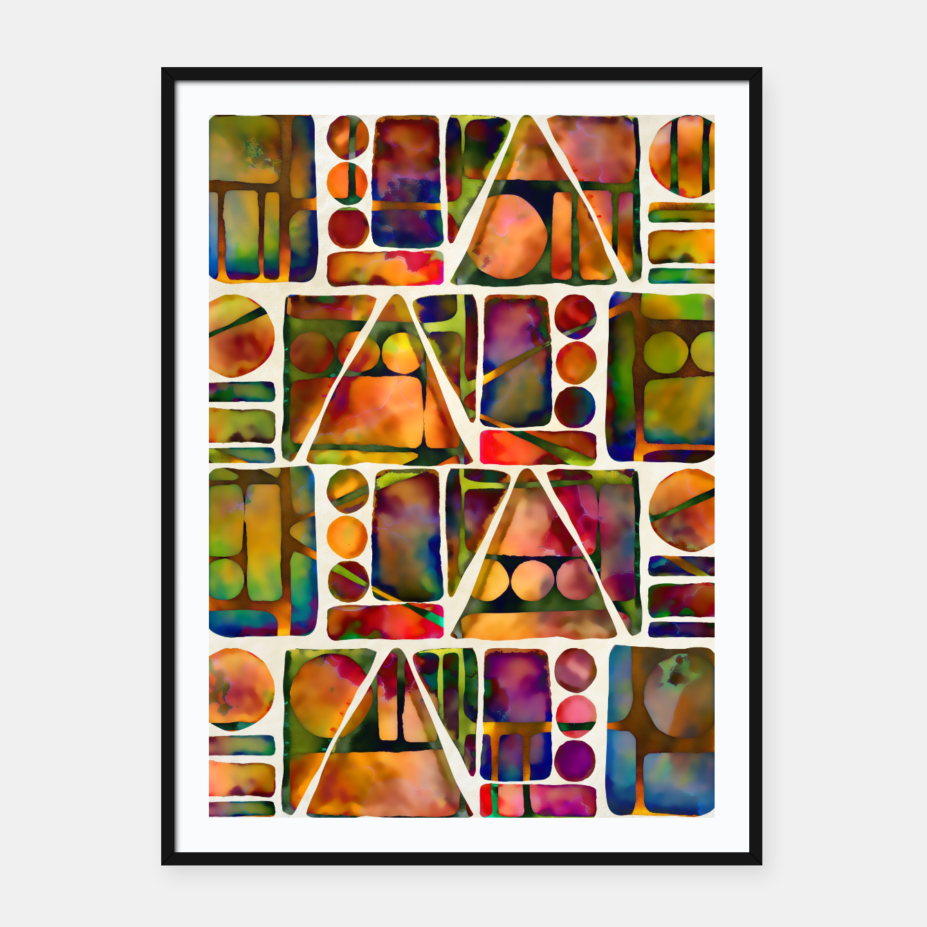 Imagen de Painted Geometric Pattern Framed poster - Live Heroes
