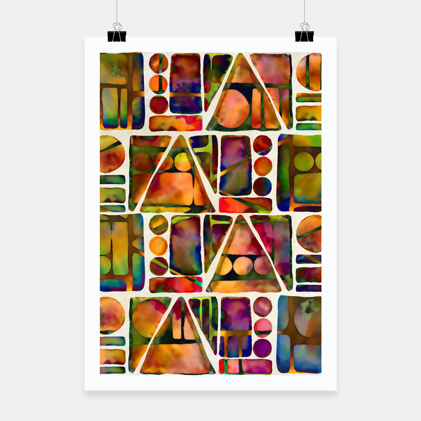 Imagen de Painted Geometric Pattern Poster - Live Heroes
