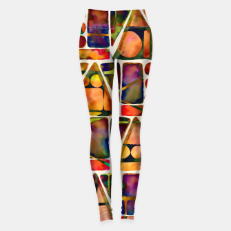 Painted Geometric Pattern Leggings imagen en miniatura