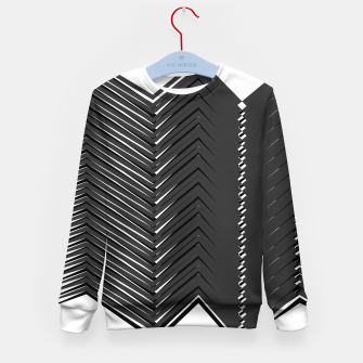 Thumbnail image of Kids sweater Black-white Zigzag lines, Live Heroes