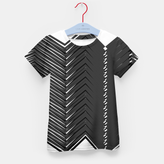 Miniatur Kids t-shirt with ZIG ZAG Lines bw, Live Heroes