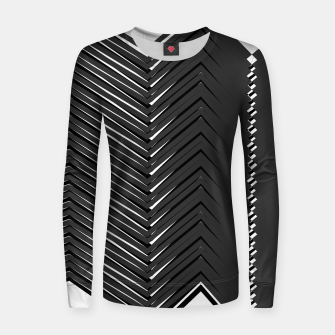 Thumbnail image of Woman cotton sweater black-white Lines, Live Heroes