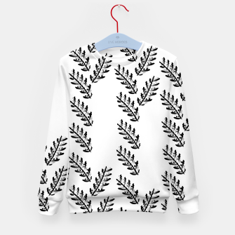 Thumbnail image of Black Twigs on White Kid's sweater, Live Heroes