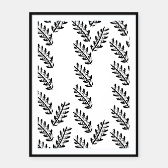 Miniatur Black Twigs on White Framed poster, Live Heroes