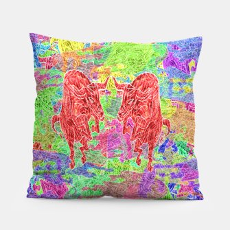 dancing bulls Pillow thumbnail image
