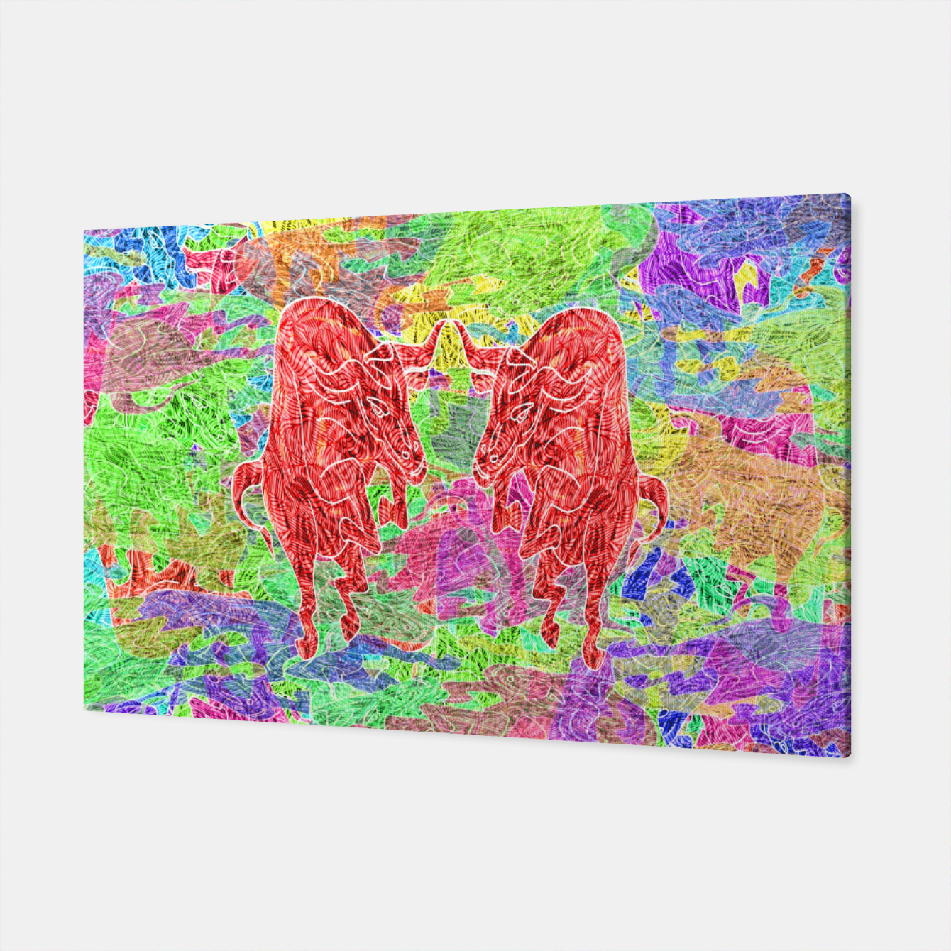 Image of dancing bulls Canvas - Live Heroes