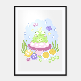 Thumbnail image of The Majestic Magical Horn Toad Framed poster, Live Heroes