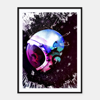 Thumbnail image of Space Skull Framed poster, Live Heroes