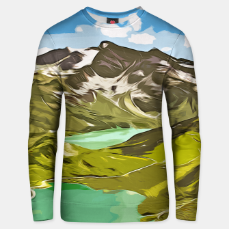 Thumbnail image of gxp alpin aussicht berge mountain view vector art Baumwoll sweatshirt, Live Heroes