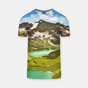Thumbnail image of gxp alpin aussicht berge mountain view vector art T-Shirt, Live Heroes
