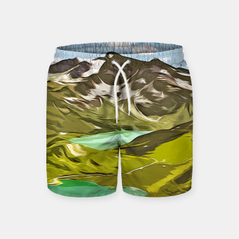 Thumbnail image of gxp alpin aussicht berge mountain view vector art Badeshorts, Live Heroes