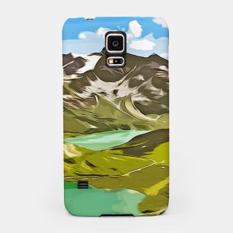 Thumbnail image of gxp alpin aussicht berge mountain view vector art Handyhülle für Samsung, Live Heroes