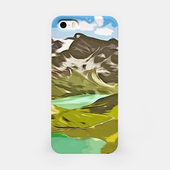 Thumbnail image of gxp alpin aussicht berge mountain view vector art iPhone-Hülle, Live Heroes