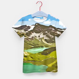 Thumbnail image of gxp alpin aussicht berge mountain view vector art T-Shirt für kinder, Live Heroes