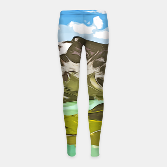 Thumbnail image of gxp alpin aussicht berge mountain view vector art Kinder-Leggins, Live Heroes