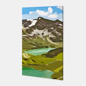 Thumbnail image of gxp alpin aussicht berge mountain view vector art Canvas, Live Heroes