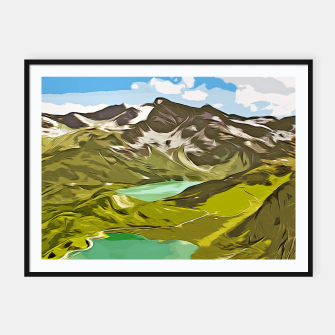 Thumbnail image of gxp alpin aussicht berge mountain view vector art Plakat mit rahmen, Live Heroes