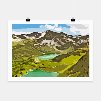 Thumbnail image of gxp alpin aussicht berge mountain view vector art Plakat, Live Heroes