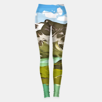 Thumbnail image of gxp alpin aussicht berge mountain view vector art Leggings, Live Heroes