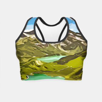 Thumbnail image of gxp alpin aussicht berge mountain view vector art Crop Top, Live Heroes