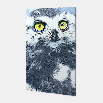 Thumbnail image of gxp schneeeule snow owl vector art Canvas, Live Heroes
