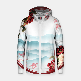 Japanese Scenery Cotton zip up hoodie imagen en miniatura