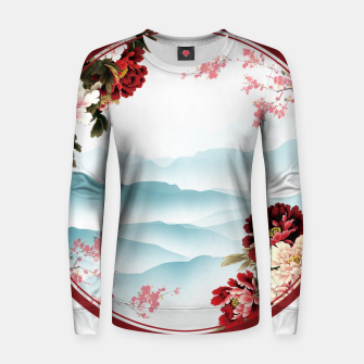 Japanese Scenery Woman cotton sweater imagen en miniatura