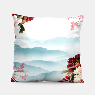 Miniatur Japanese Scenery Pillow, Live Heroes