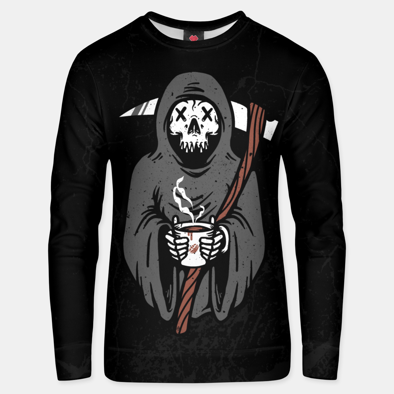 Foto Coffee Reaper Cotton sweater - Live Heroes