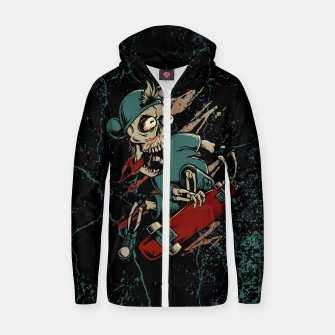Miniature de image de Skateboarder Cotton zip up hoodie, Live Heroes