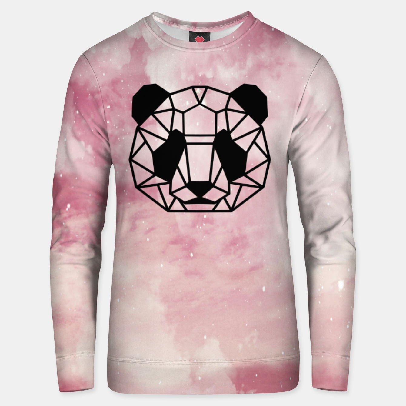 Image of Geometric pink panda Cotton sweater - Live Heroes