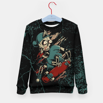 Thumbnail image of Skateboarder Kid's sweater, Live Heroes