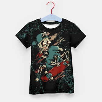 Thumbnail image of Skateboarder Kid's t-shirt, Live Heroes