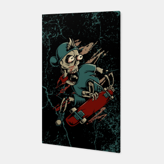 Miniatur Skateboarder Canvas, Live Heroes