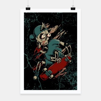 Thumbnail image of Skateboarder Poster, Live Heroes