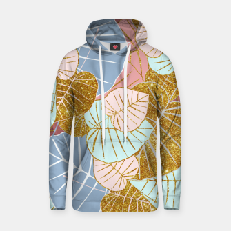 Thumbnail image of Floral Gold Cotton hoodie, Live Heroes