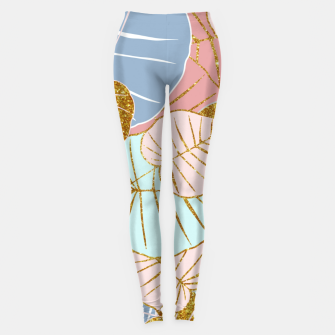 Thumbnail image of Floral Gold Leggings, Live Heroes