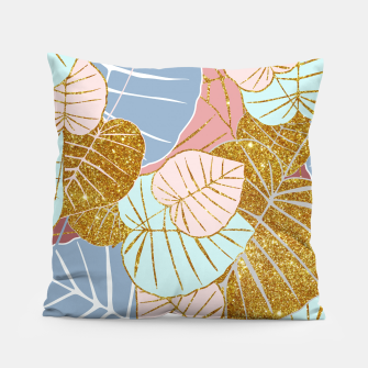 Thumbnail image of Floral Gold Pillow, Live Heroes